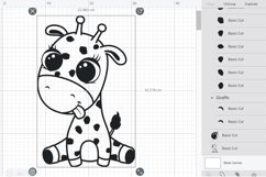 Cute baby giraffe, SVG, PNG, EPS. Product Image 2