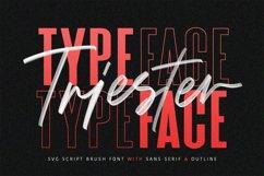 Triester SVG Brush Font Free Sans Product Image 1