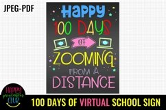 100 Days of Zooming Sign- 100 Days of School Sign Poster Product Image 2