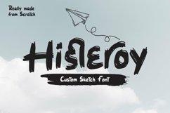 Web Font Histeroy - Custom Sketch Font Product Image 1