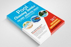 Pool Cleaning Service Flyer Template Product Image 2