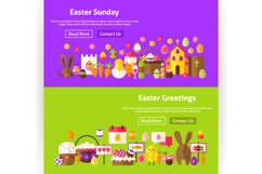 Happy Easter Website Banners Product Image 4