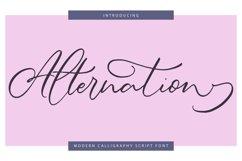 Alternation | Modern Calligraphy Script Font Product Image 1