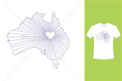 I Love Australia, Country Map Silhouette Product Image 4