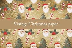 Vintage Christmas digital paper pattern Product Image 2