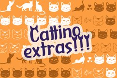 Cattino | Playful Display Font & Extras Product Image 5