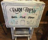 Farmhouse TV Tray Designs Bundle 4 designs Product Image 4