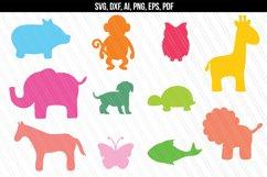 Zoo Animals SVG, Baby Animals Jungle SVG Product Image 1