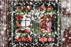 Window Frames Overlays Christmas Freeze Holiday photoshop Product Image 4