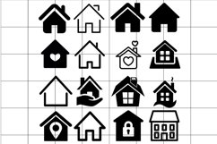 House Icon vector Set. House illustration collection. Product Image 1