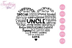 Uncle Word Art - Svg Cut Files Product Image 1