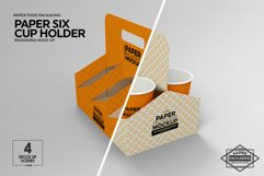 Paper Six Cup Carrier/Holder Packaging Mockup Product Image 6