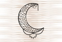 Moon mandala, mandala svg, zentangle svg Product Image 4
