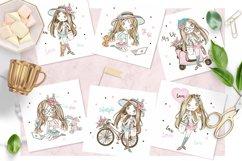 Cute Teen Girls 3, Digital Clipart, Fashion Girls, Valentine Product Image 3