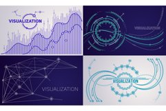 Visualization banner set, outline style Product Image 1