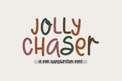 Jolly Chaser - A Fun Handwritten Font Product Image 1