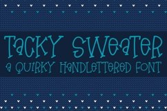 Web Font Tacky Sweater - A Quirky Hand-Lettered Font Product Image 1
