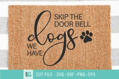 Dogs Welcome Mat SVG - Don't Ring the Doorbell SVG Product Image 1