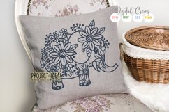 Elephant paper cut design SVG / DXF / EPS / PNG files Product Image 2