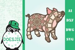 Farm Animal bundle 3d svg layered Multi layer mandala farm Product Image 2