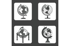 Earth globe icons set Product Image 1