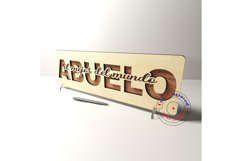 Abuelo sign vector files. Father's day . Glowforge ready. Product Image 3
