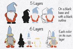 Gnome SVG. Layered SVG. Layered Papercut Product Image 5