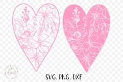 Valentines Love Heart with a Floral Pattern Product Image 4