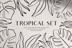 Tropical Set - Leaves & Vases Product Image 1