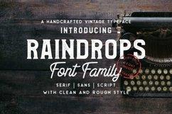 Raindrops Font Family  Product Image 1