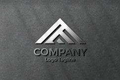 Elegant silver logo mockup on black concrete wall Product Image 1