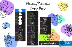 Flowers Procreate Brush. Floral Stencil. Procreate Stamp Product Image 2