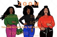 Afro lady Clip art, Big sis bundle, black girl, Afro clipart Product Image 5