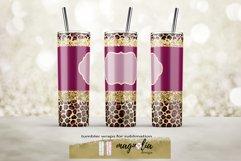 leopard glitter tumbler wrap png 20 oz tumbler bundle Product Image 6