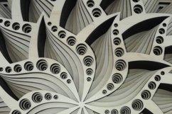 Layered Mandala SVG, Laser cut file, Cricut Mandala, Flower Product Image 3