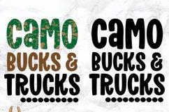 Camo Bucks & Trucks Kids Grunge Distress SVG Product Image 4