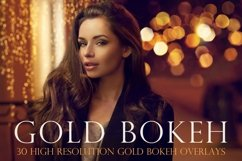 Gold bokeh overlays Product Image 1
