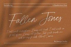 Fallen Jones | a Handwritten Font Product Image 1