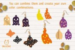 Cute Halloween Ghosts Earrings Set svg, Fun Halloween Earrin Product Image 6