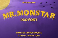 MR.MONSTAR Duo Font & Extras Product Image 1