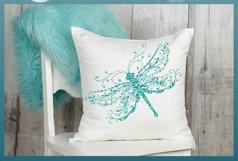 Beautiful Intricate Dragonfly Mandala Zentangle SVG Product Image 2