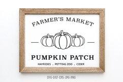 Fall sign bundle, pumpkin SVG, Fall Circle SVG, fall svg Product Image 4