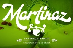 Martinaz typeface cover page