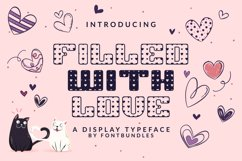 Web Font Filled with Love Product Image 1