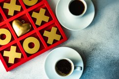 St. Valentine card concept with tic-tac-toe board game Product Image 1