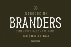 Branders - Condensed Handmade Font Product Image 1