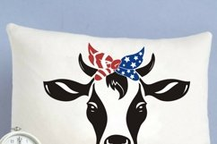Heifer SVG, cow svg, farm svg, dairy cow svg, banana cow, 4th of july bandana, 4th of july cow face, animal faces svg, independence day cow Product Image 1