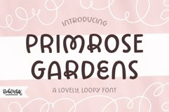 Primrose Gardens a lovely loopy font Product Image 1