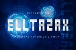 Web Font ELLTAZAX Font Product Image 1