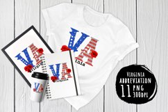 State abbreviation. USA sublimation. Virginia Product Image 1